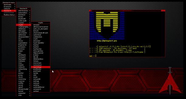 BlackArch-Linux-Tool-Sammlung