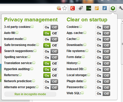 Chrome-privacy-manager