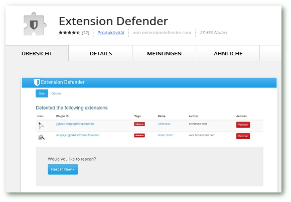 Extension-Defender