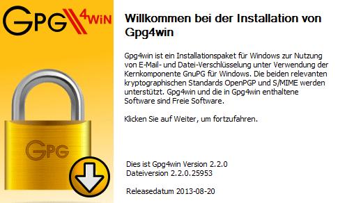 Gpg4win v2 2 0 veröffentlicht - PGP Verschlüsselung für