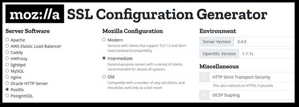 Mozilla_SSL_Configuration_Generator