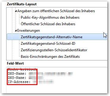 Selbstsignierte Zertifikate Mit Subject Alternative Names Sans Für