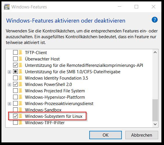 WindowsSubsystemfuerLinux