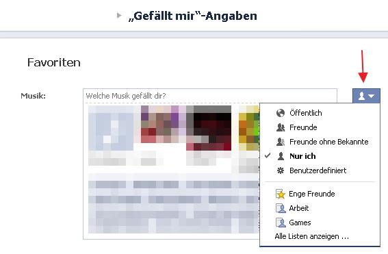 Facebook Gefällt Mir Verbergen