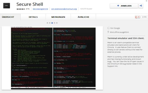 Hterm - SSH Client für Google Chrome | ITrig