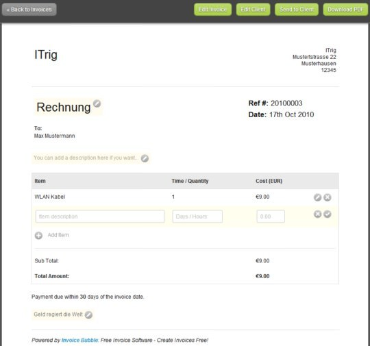 Einfach Rechnungen Online Erstellen Itrig