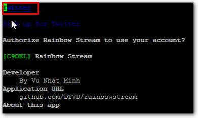 rainbowstream-sprache